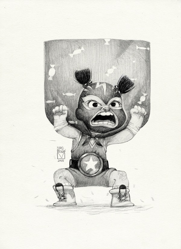 pencil drawing teddy by blad moran