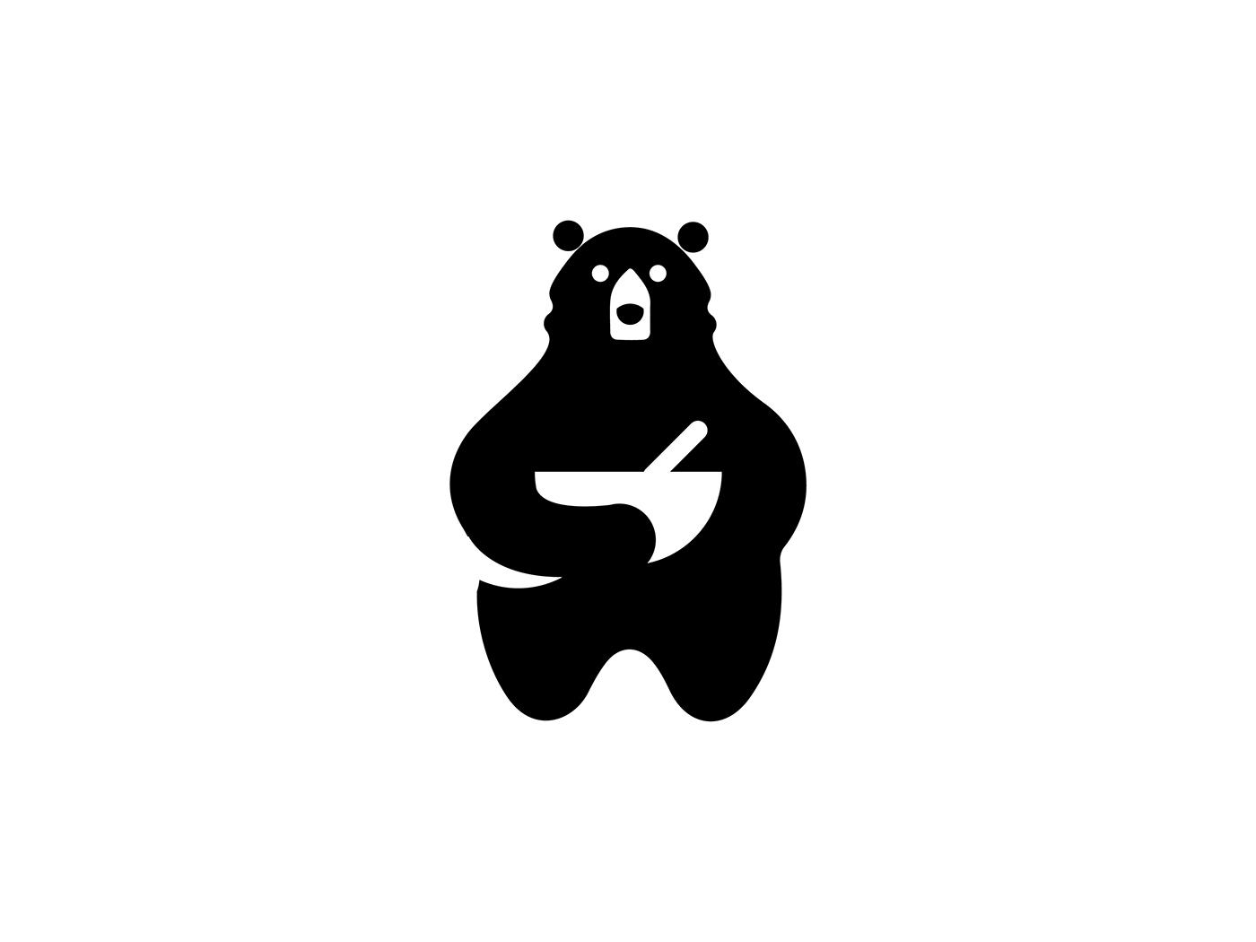 logo design bear