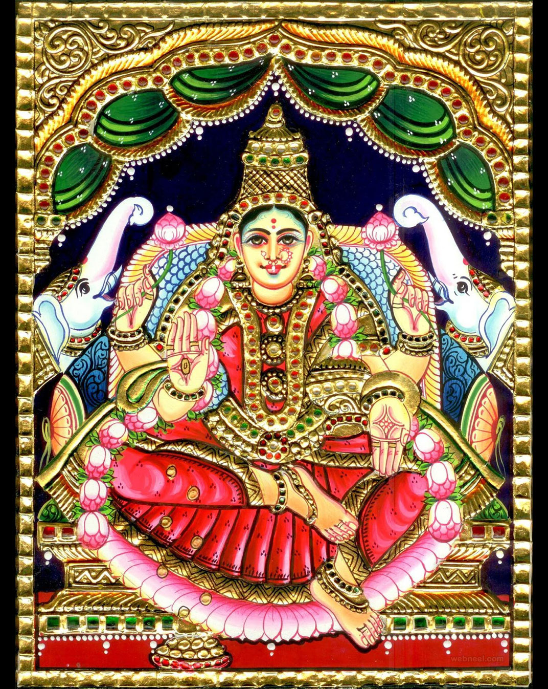 tanjore painting gajalakshmi