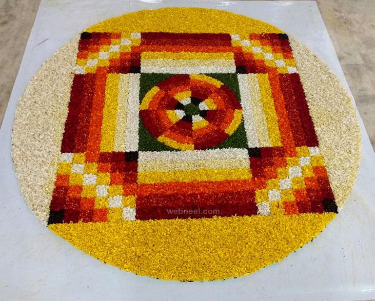 onam pookalam art competition winner