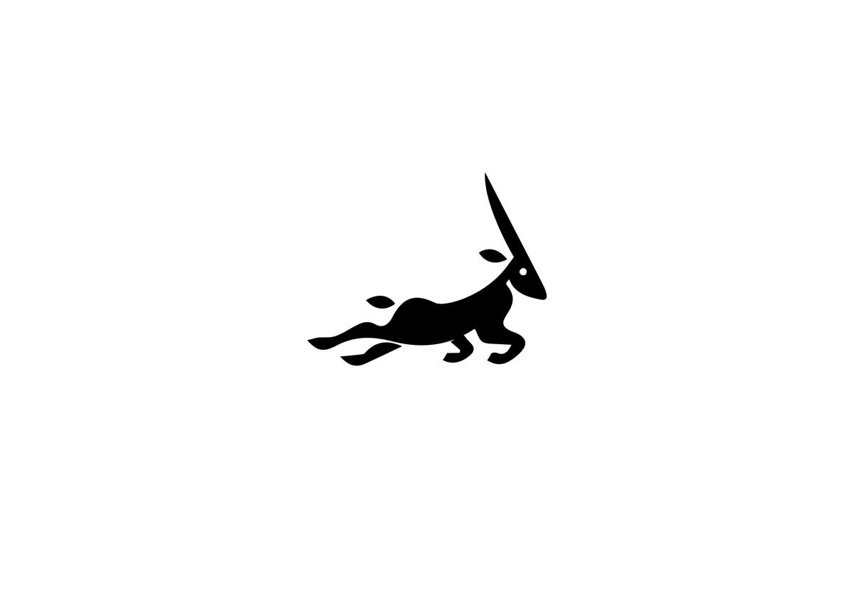 logo design deer