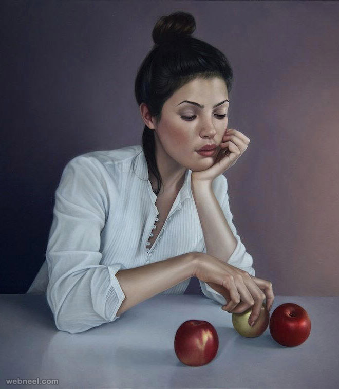 Oil painting realistic mary jane ansell