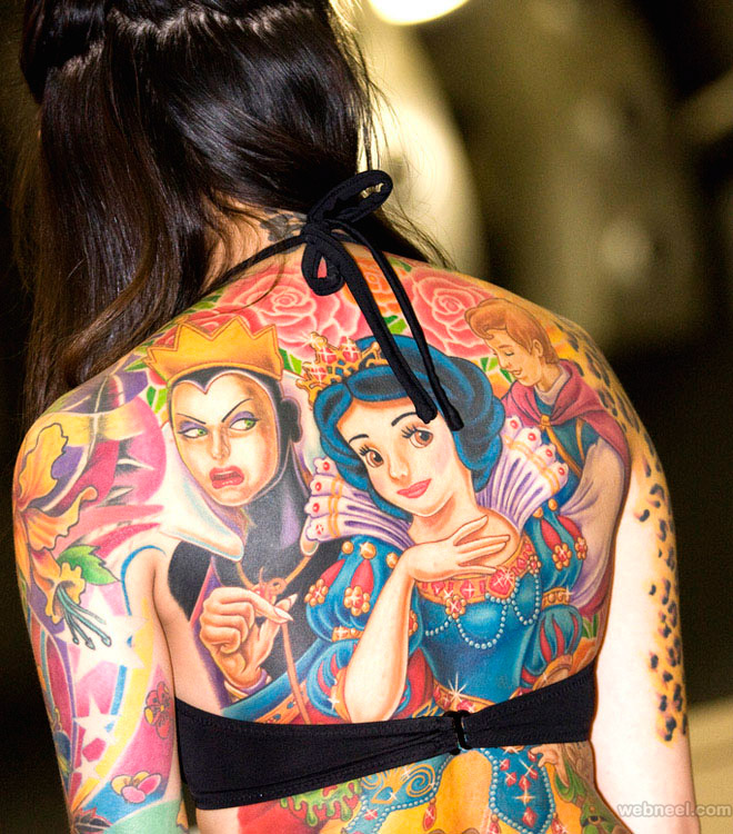 full body tattoo women
