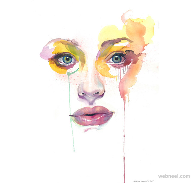 watercolor painting by marion bolognesi