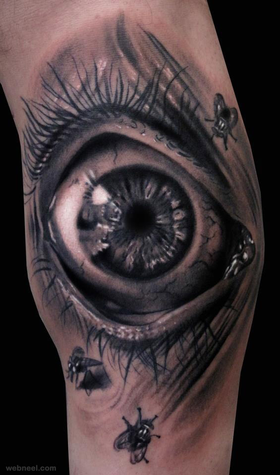 3d tattoo eye hand