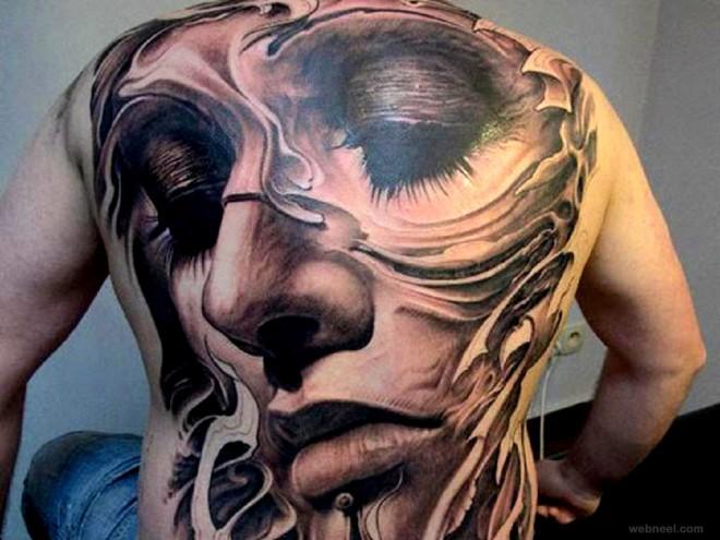 full body tattoo girl face