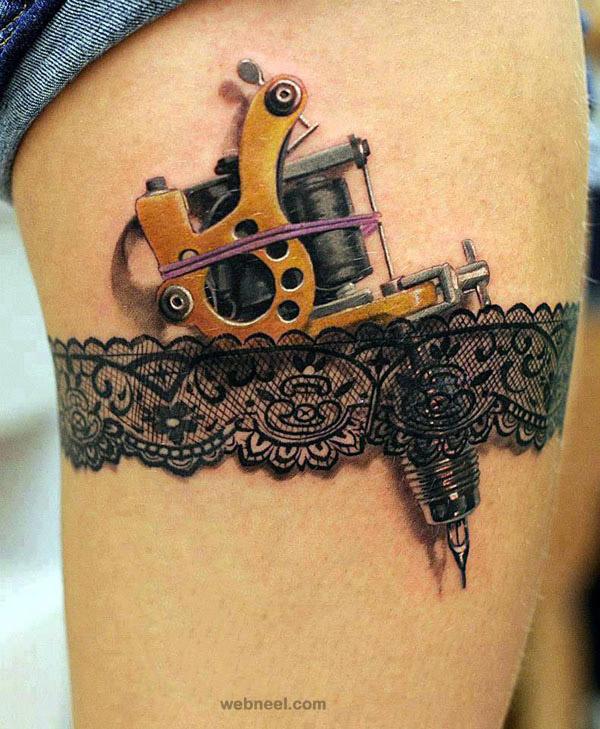 3d lace tattoo