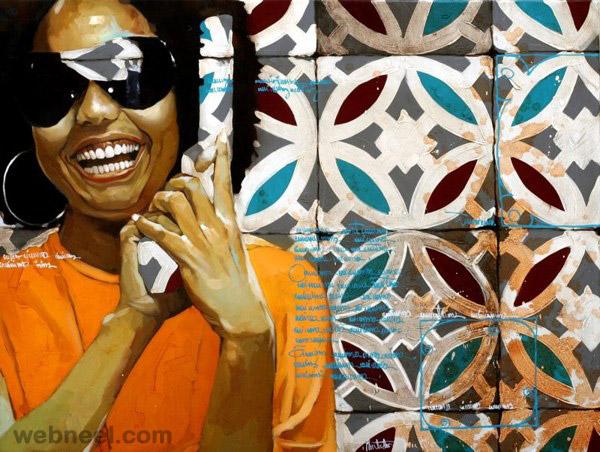 oil portrait by yunior hurtado