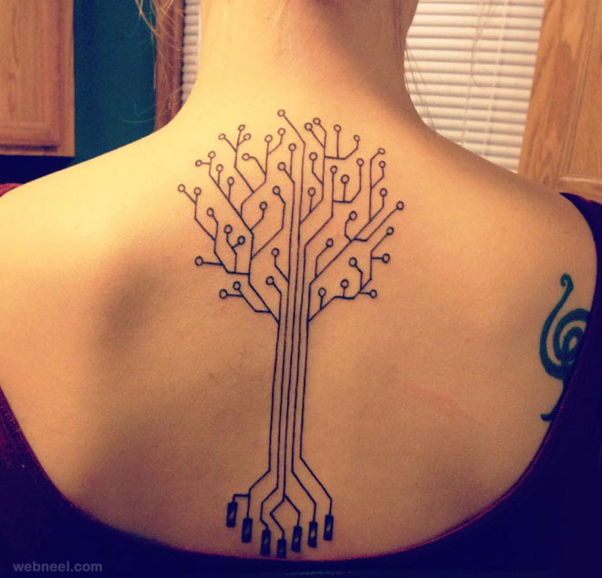 tree tattoo woman