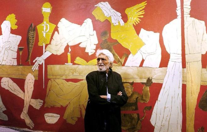 mf husain painting museum