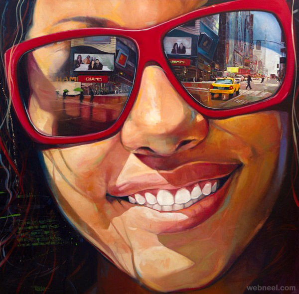 oil painting portrait by yunior hurtado