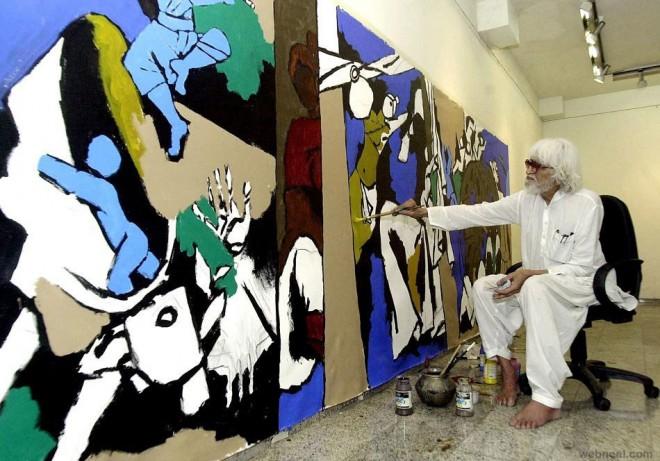 mf husain painting