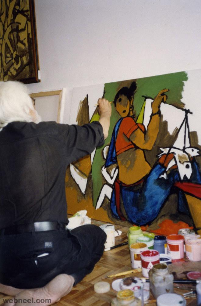 mf husain artwork