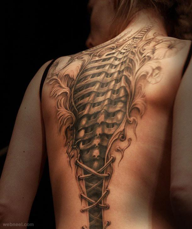 3d tattoo woman