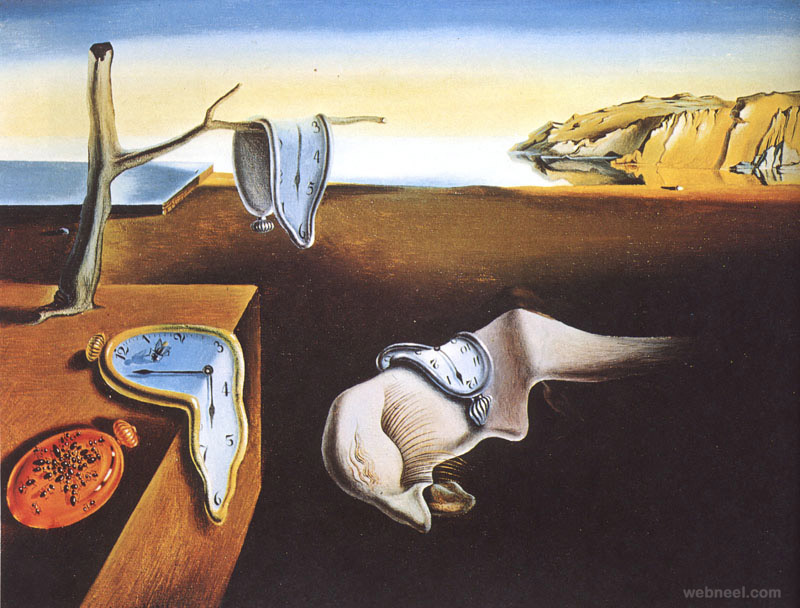the persistence of memory surreal art by salvador dali