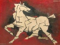 8-flying-horse-mf-husain-painting
