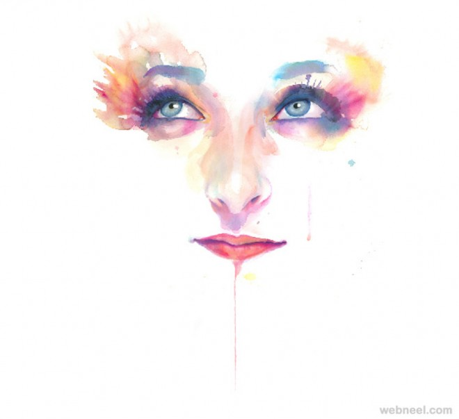 creative watercolor painting