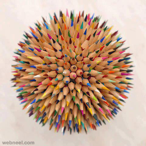 color pencil sculpture