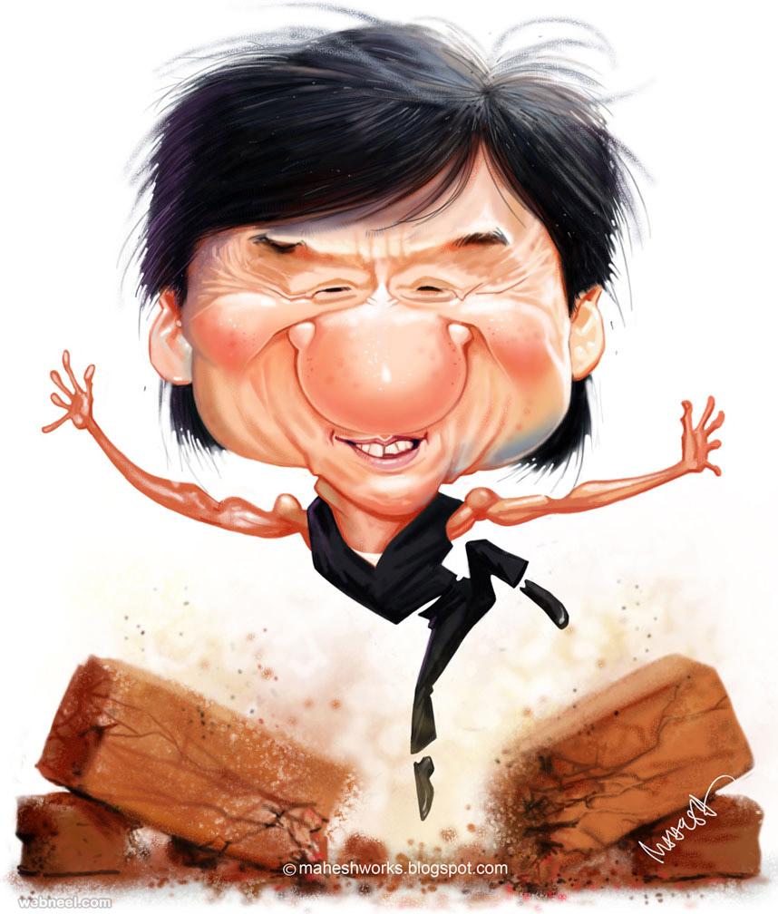 jackiechan caricature