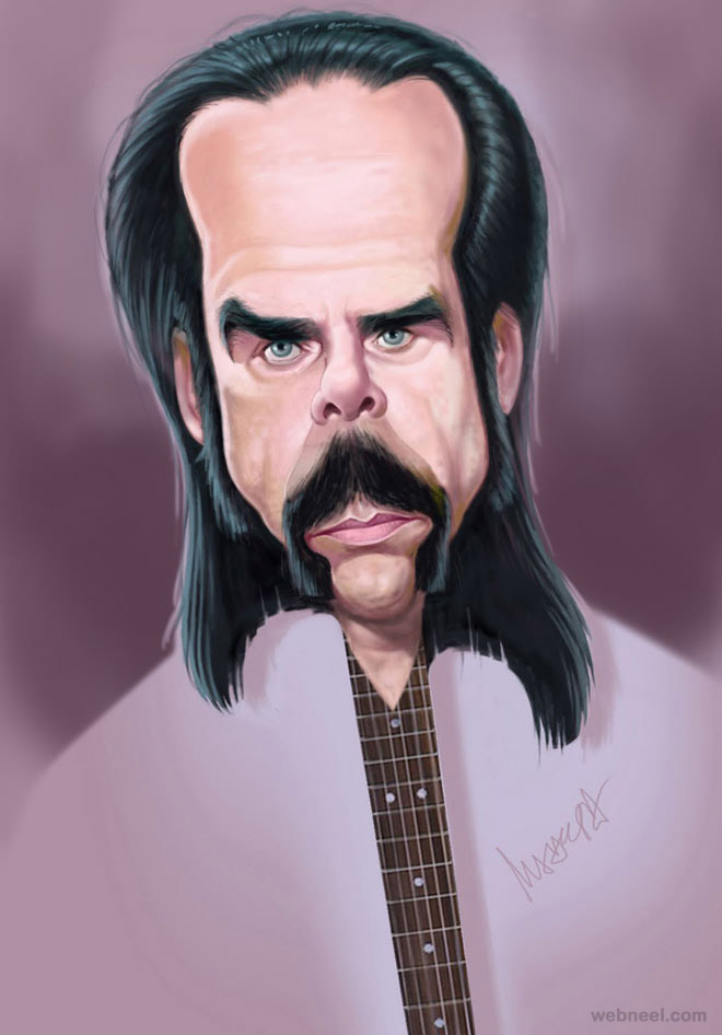 nick cave caricature