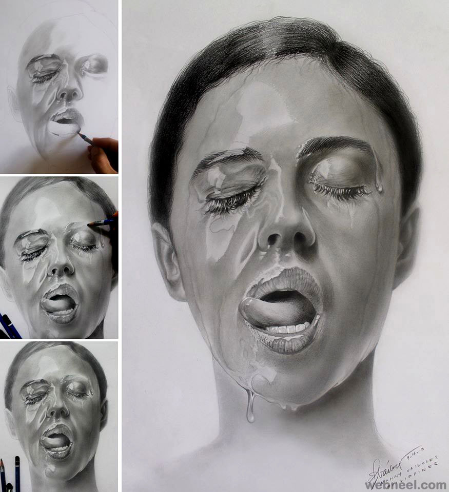 amazing drawing water by manny vailoces