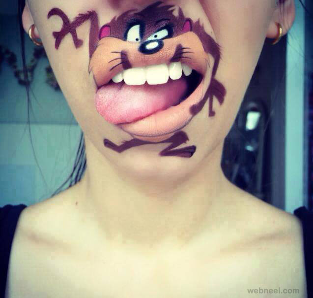 lip painting funny