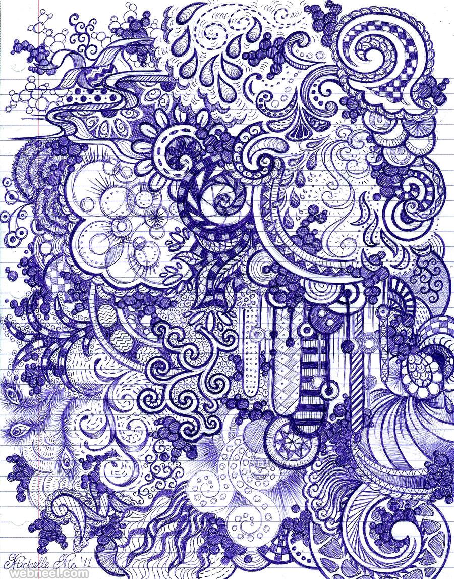 pen doodle art michelle