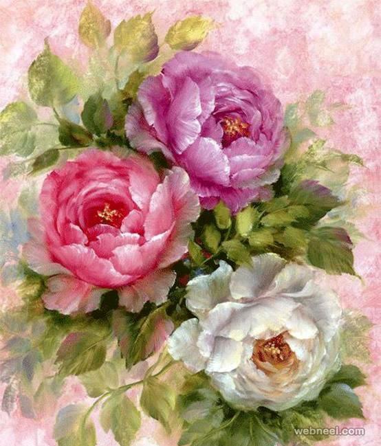 rose oil painting MEMEs