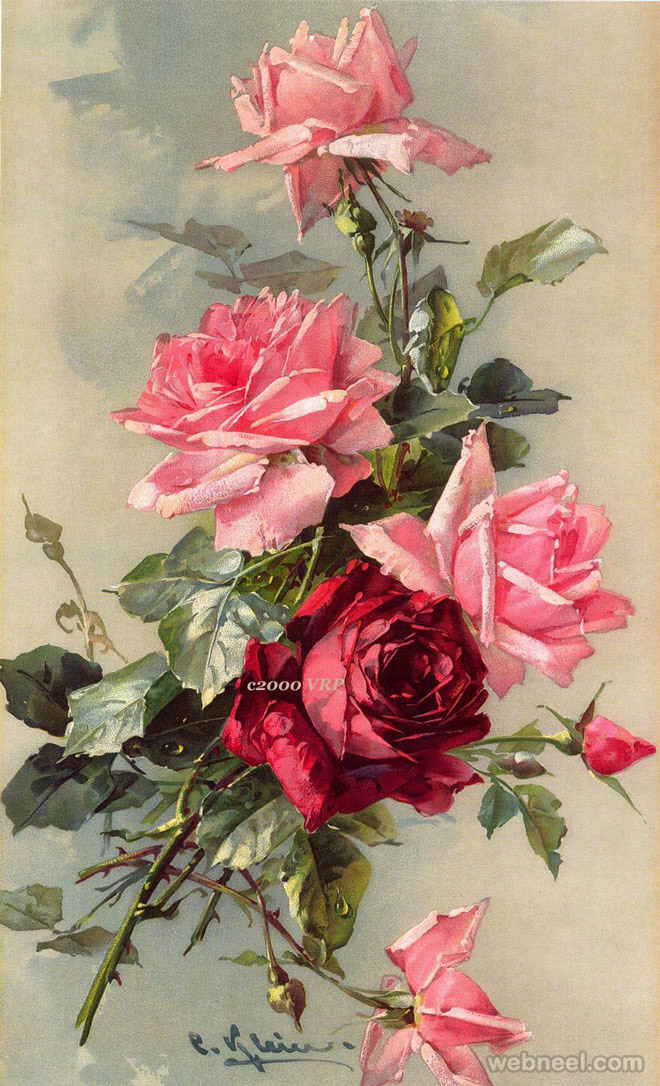 rose painting cklein