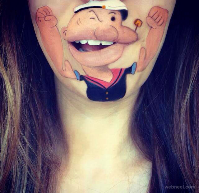 lip painting idea