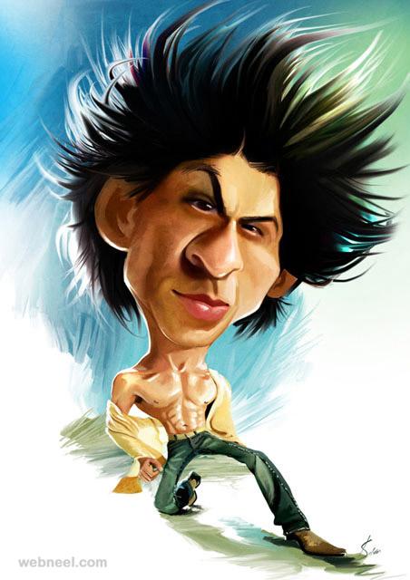 Shahrukh khan caricature by mahesh