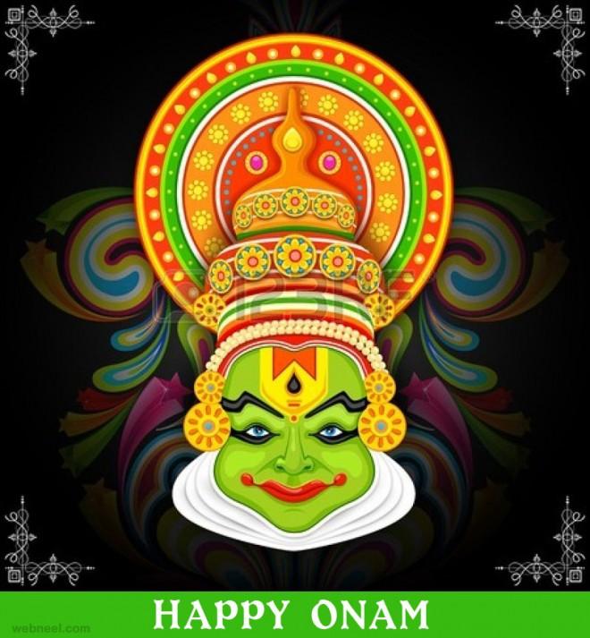 onam wishes kathakali