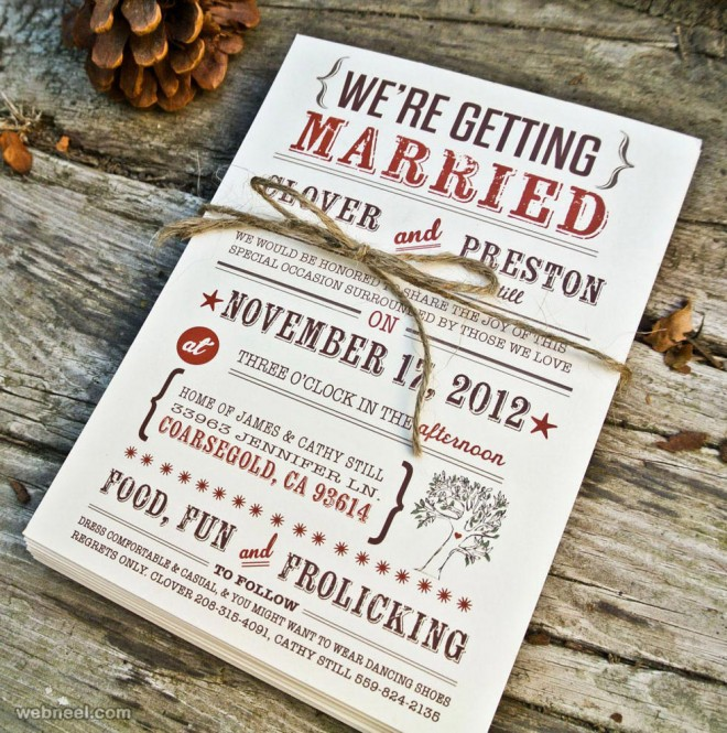 25 Creative and Unsual Wedding Invitation Card Design Ideas – Invitation Cards for Weddings