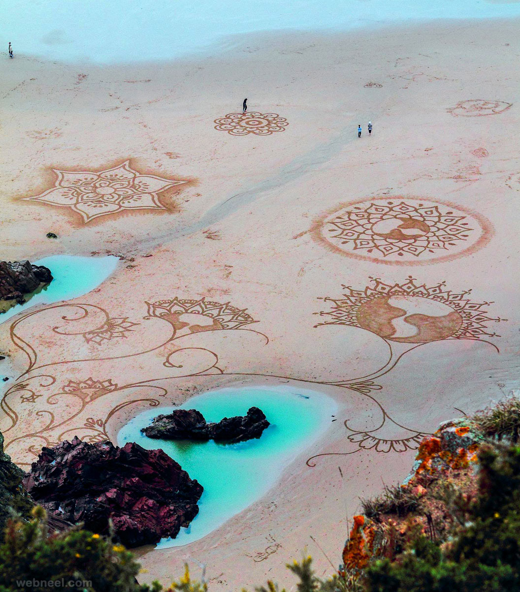 beach art flower