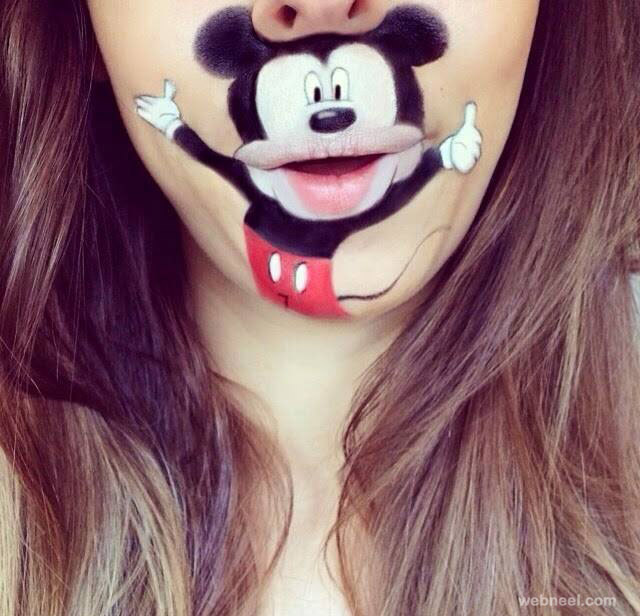 lip art mickey