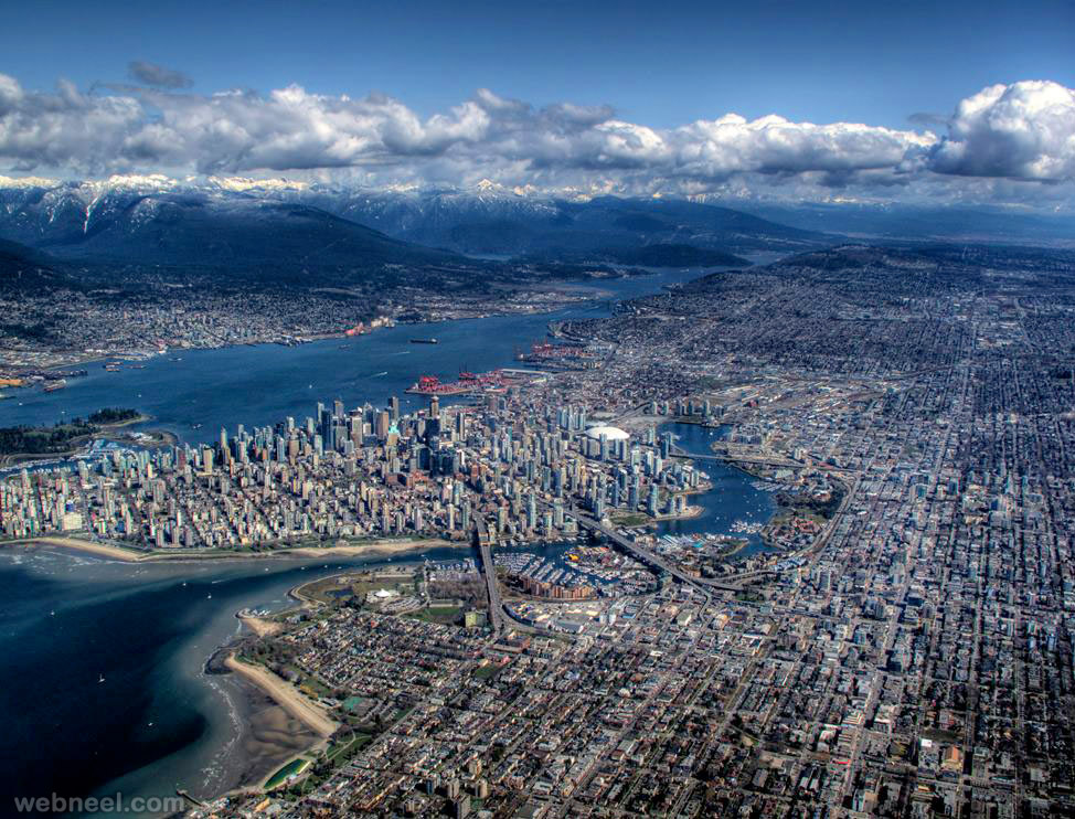 aerial view photography vancouver