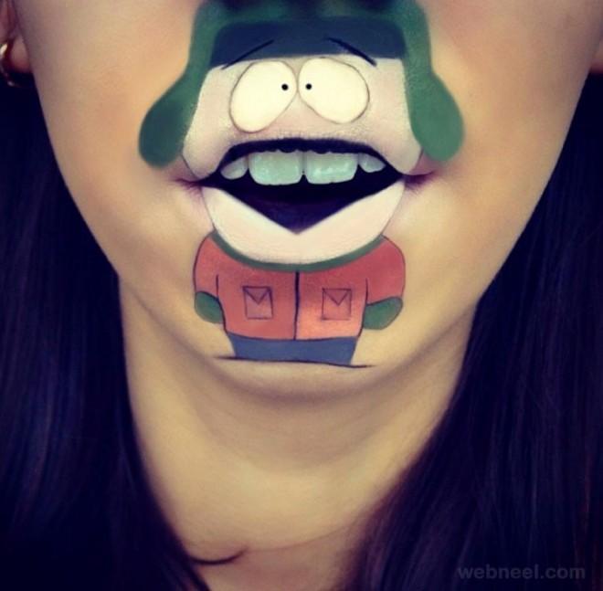 lip art funny