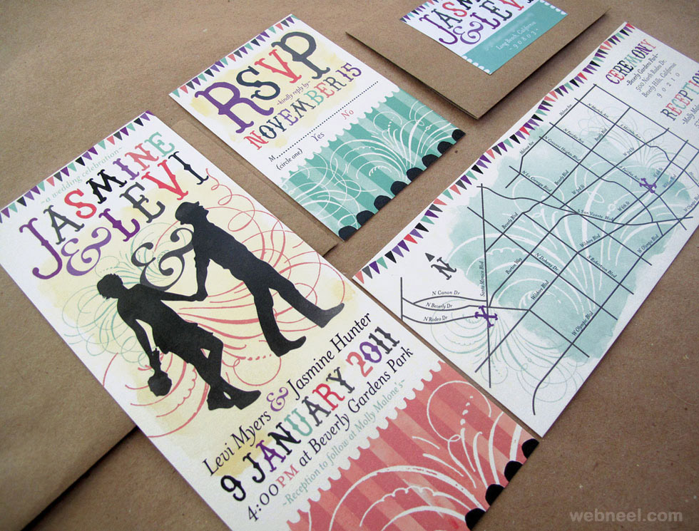 Creative And Unusual Wedding Invitation Card Design Ideas