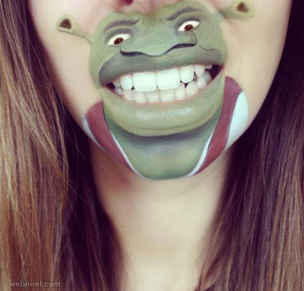lip art shrek disney