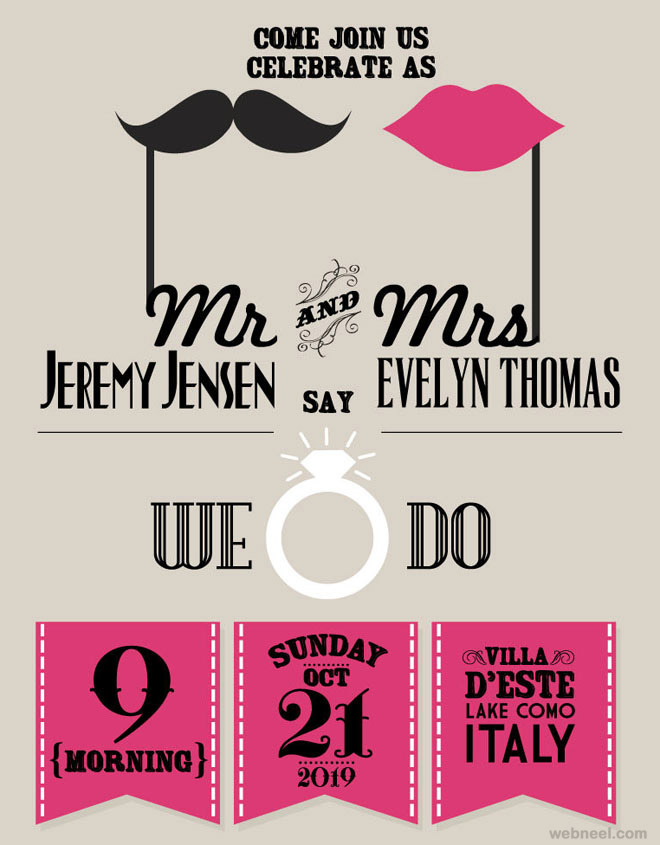 unusual wedding invitation card designs 24