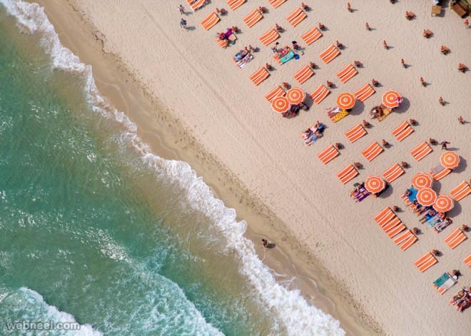 aerial photography beach sea