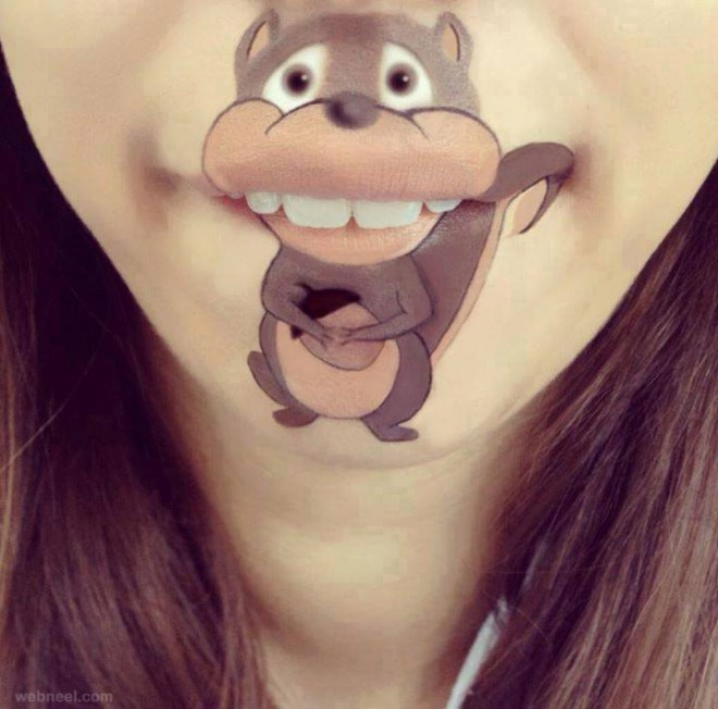 lip art animals