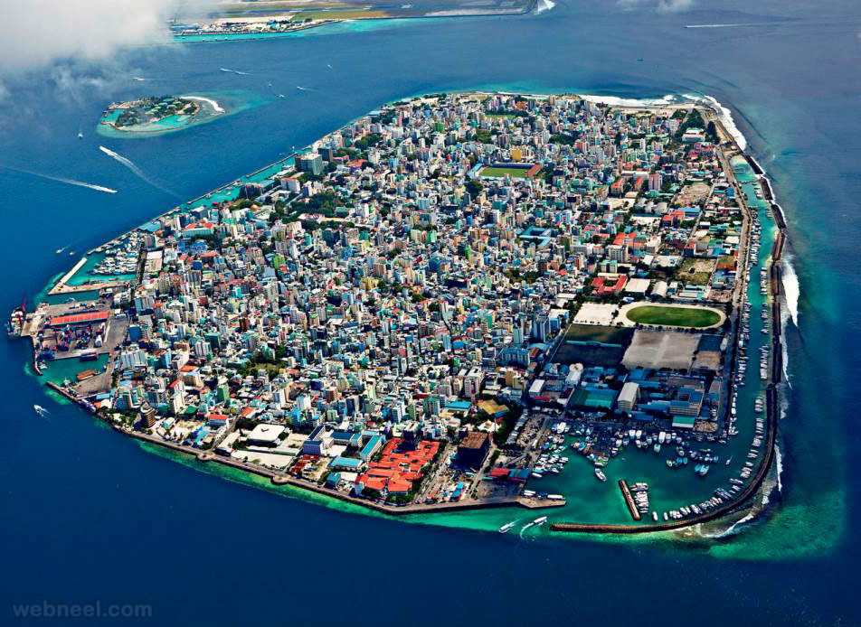 aerial photography maldives island