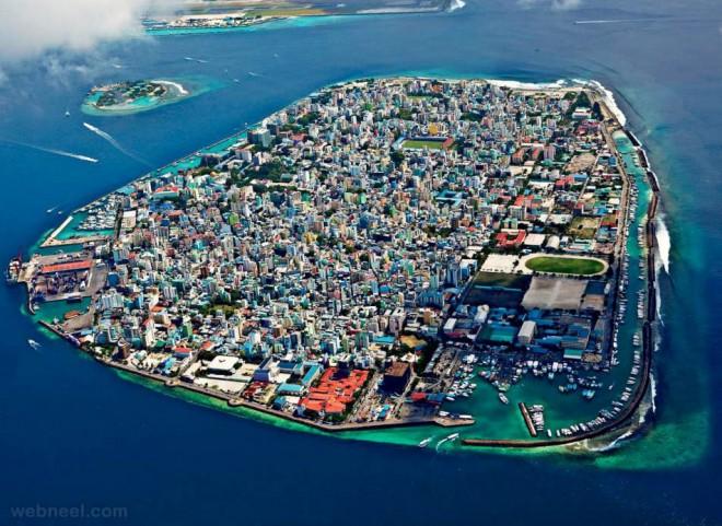 aerial photography maldives island