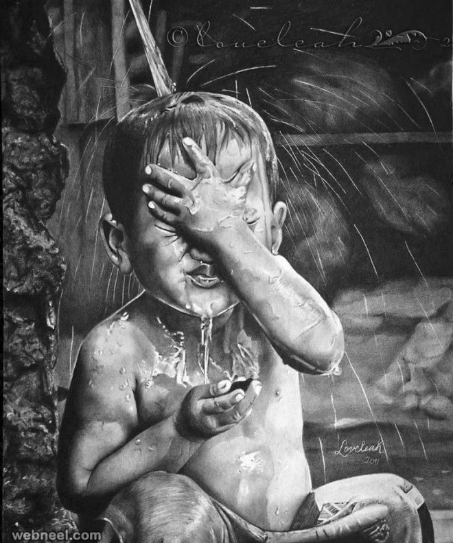 Amazing drawing baby bath