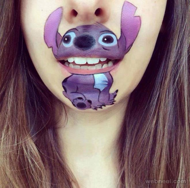 lip art dog funny