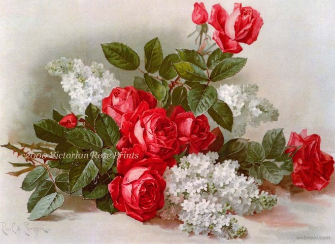 rose painting paul longpre