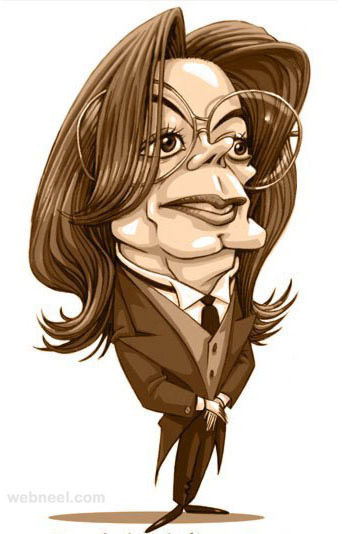 michael jackson caricature by mahesh