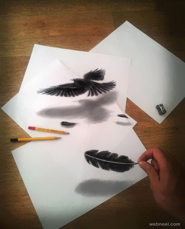 bird 3d drawing by jjk