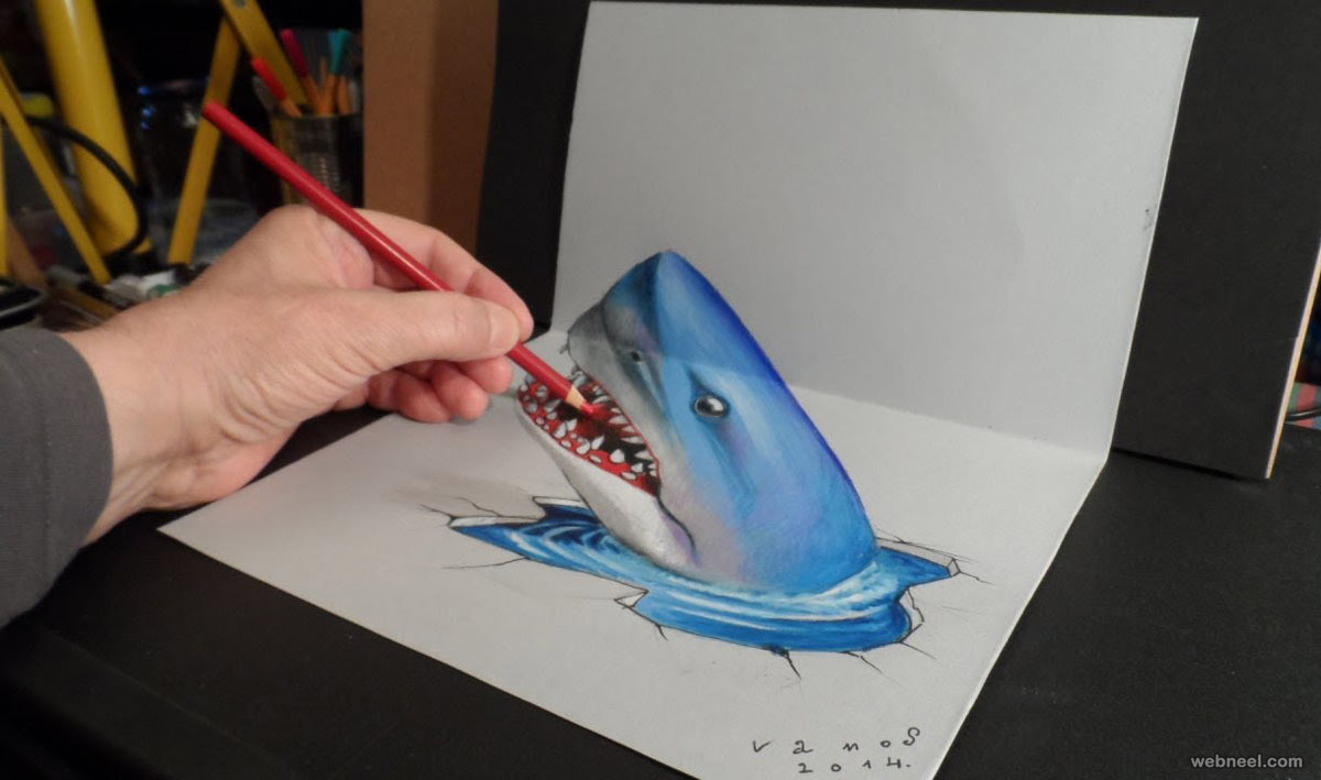 fish 3d drawing